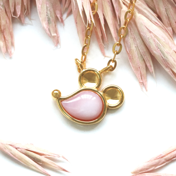Prismatic Rat Necklace in Pink