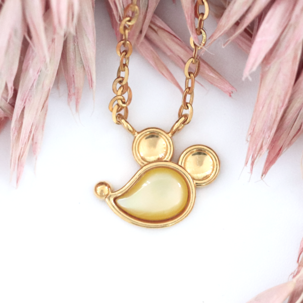 Prismatic Rat Necklace in Yellow